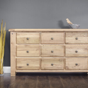 Donny 9 drawer oak Chest