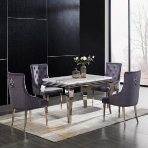 Florence rectangular table with Lion back chairs