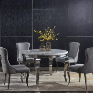 Florence round table with Curved back chairs